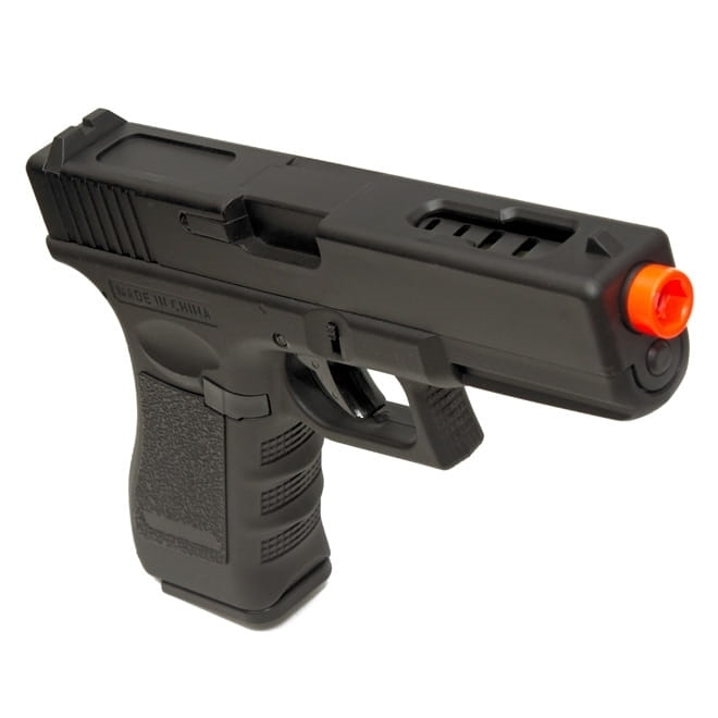 Pistola Airsoft Elétrica Glock 18c Cyma Bivolt Rajada Kit 1