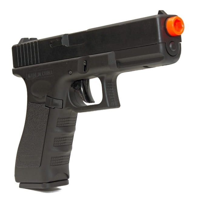 Pistola Airsoft Elétrica Glock 18c Cyma Bivolt Rajada Kit 3