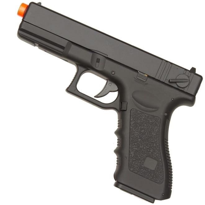 Pistola Airsoft Elétrica Glock 18c Cyma Bivolt Rajada Kit 7
