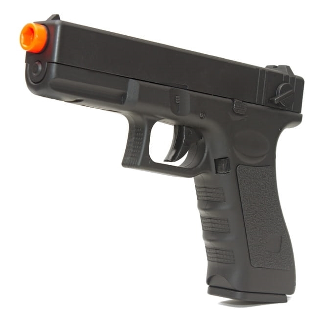 Pistola Airsoft Elétrica Glock 18c Cyma Bivolt Rajada Kit 8