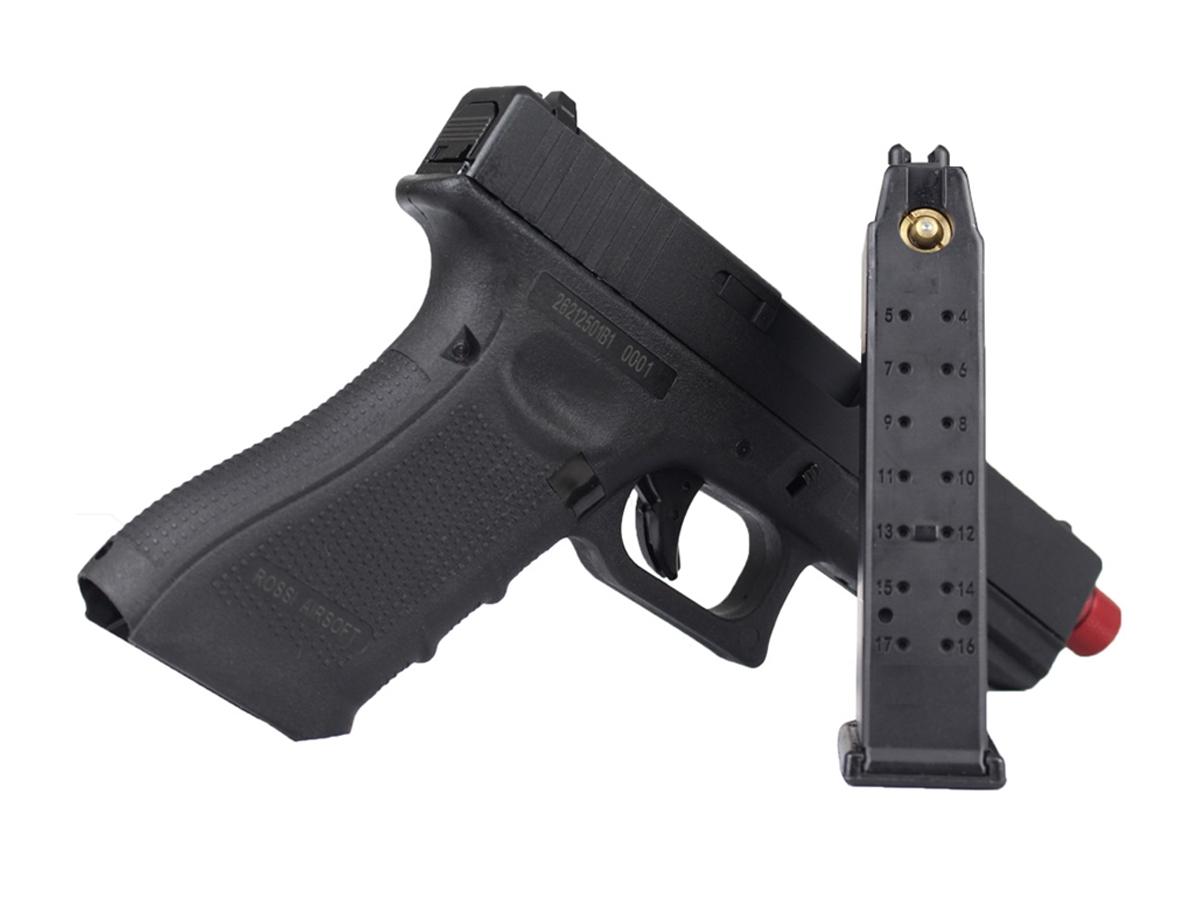 Pistola de Airsoft Glock R18 Gbb Metal C/ Rajada Rossi 6mm + Green Gás loja Blowback + Maleta loja Blowback + 5000 Bbs 0,20g loja Blowback