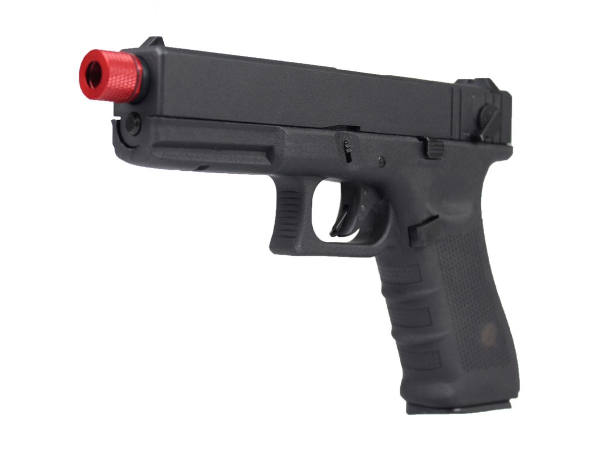 Pistola de Airsoft Glock R18 Gbb Metal C/ Rajada Rossi 6mm + Green Gás loja Blowback + Maleta loja Blowback +1000 Bbs 0,20g loja Blowback + Coldre robocop