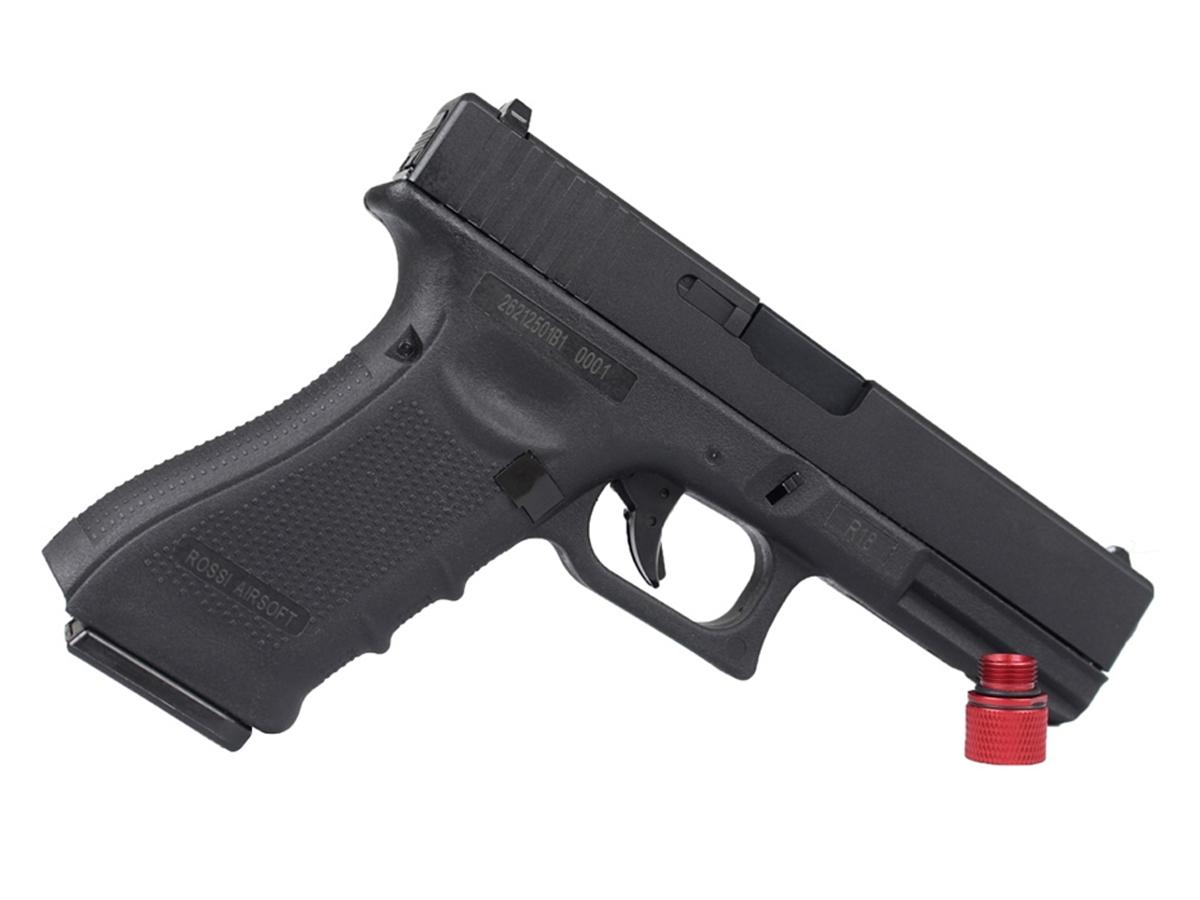 Pistola de Airsoft Glock R18 Gbb Metal C/ Rajada Rossi 6mm + Green Gás loja Blowback + Maleta loja Blowback +2000 Bbs 0,20g loja Blowback + Coldre robocop