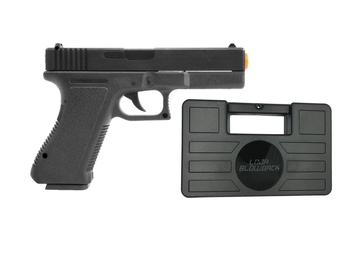 Pistola Airsoft Glock Spring  V307 6mm + maleta case