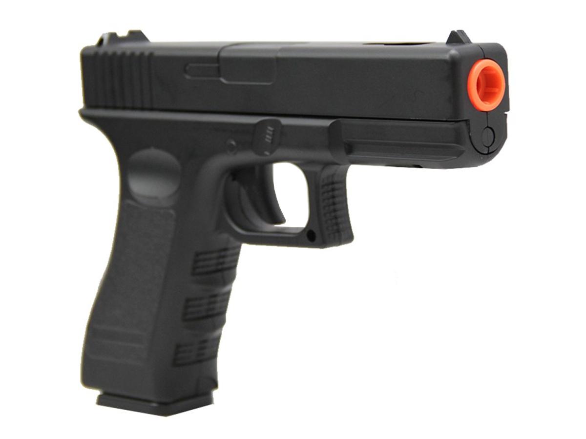 Pistola Airsoft Glock V20 Full Metal Spring 6mm + 2000 Bbs 0,20g loja Blowback + Coldre velado