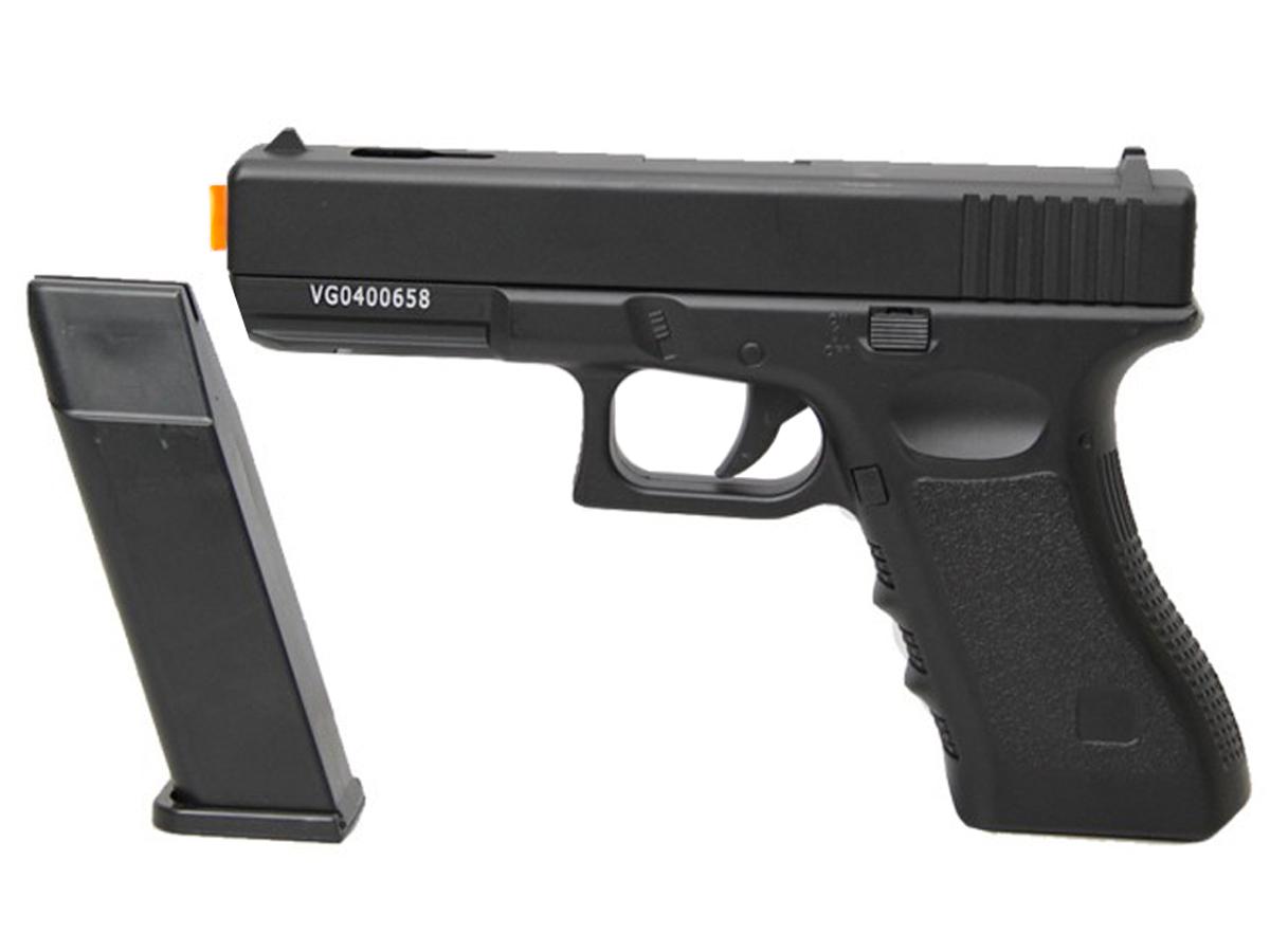 Pistola Airsoft Glock V20 Full Metal Spring 6mm + 3000 Bbs 0,12g loja Blowback + Maleta + Coldre robocop