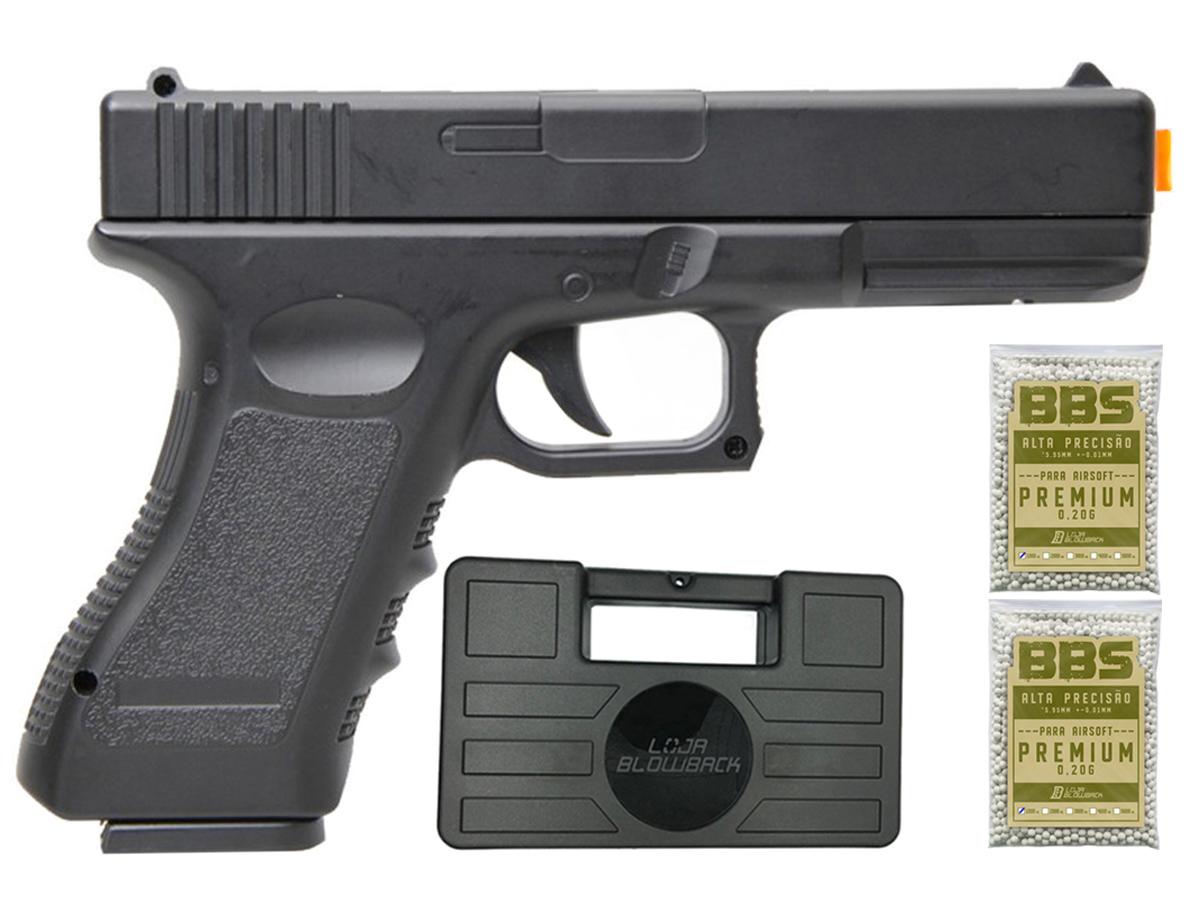 Pistola Airsoft Glock V20 Full Metal Spring 6mm + 2000 Bbs 0,20g loja Blowback + Maleta