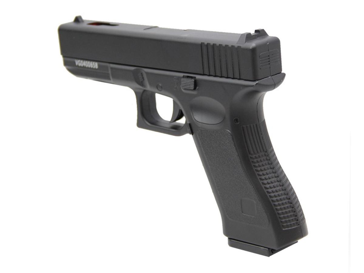 Pistola Airsoft Glock V20 Full Metal Spring 6mm + 3000 Bbs 0,20g loja Blowback + Maleta + Coldre velado