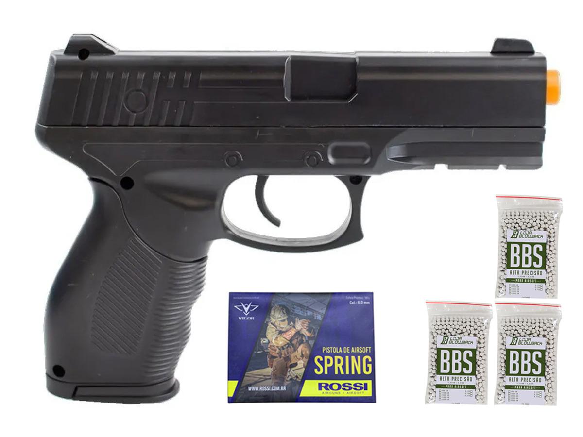 Pistola Airsoft Spring 24/7 V310 + 3000 Bbs 0,12g loja Blowback