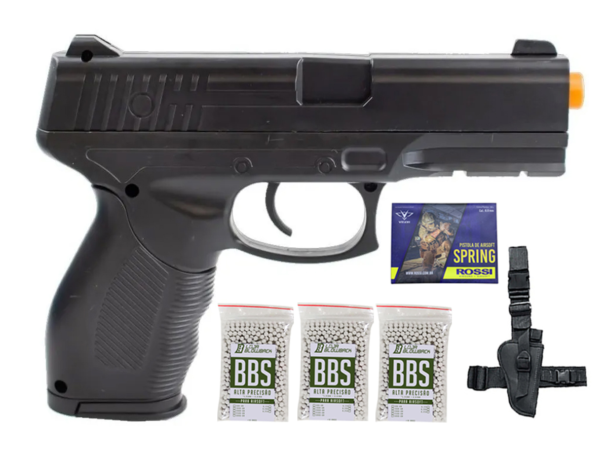 Pistola Airsoft Spring Rossi PT 24/7 v310 Vigor PT24/7 K12