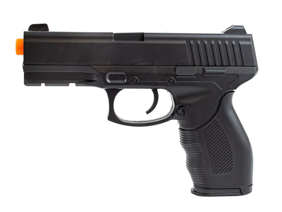 Pistola Airsoft Spring 24/7 V310 + 3000 Bbs 0,12g loja Blowback + Coldre velado