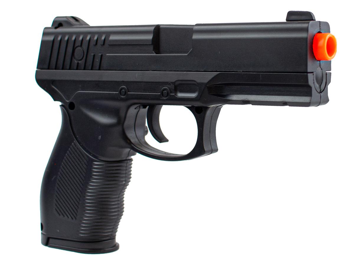 Pistola Airsoft Spring 24/7 V310 + 1000 Bbs 0,12g loja Blowback + Coldre velado