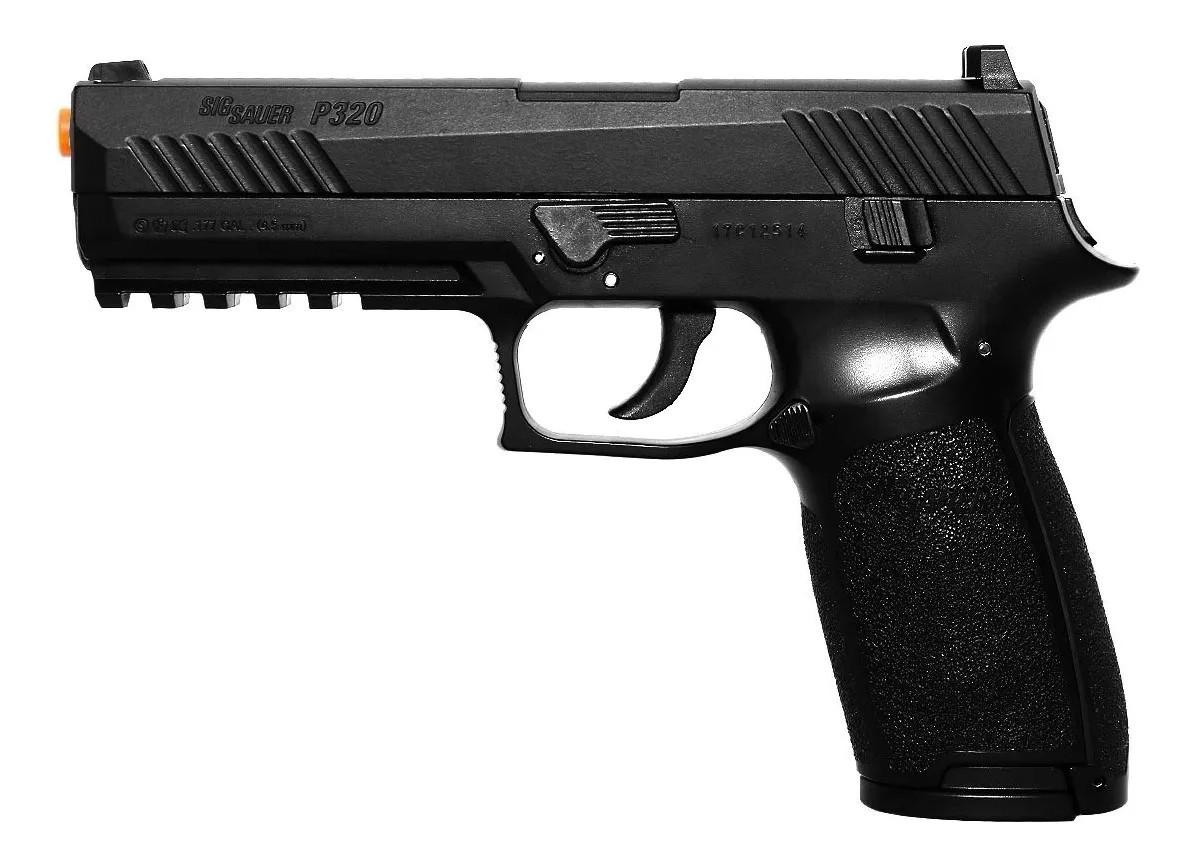 Pistola de Chumbinho Sig Sauer P320 Co2 com Blowback  4.5mm K3 + Maleta