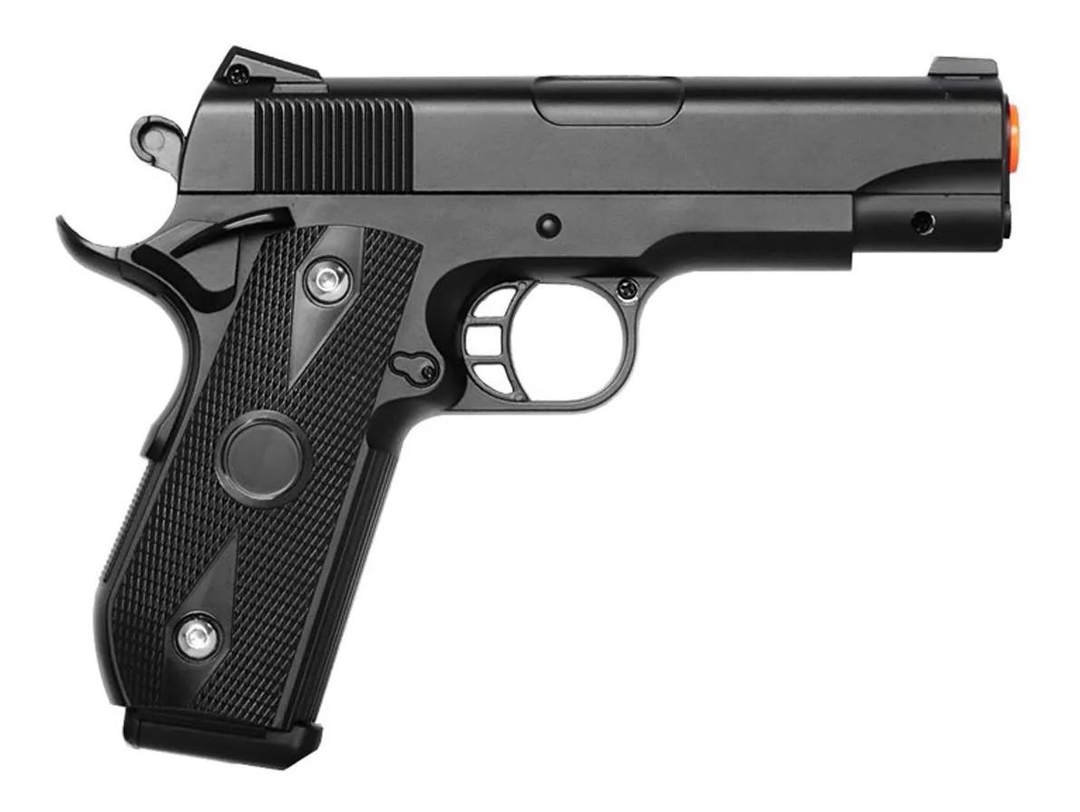 Pistola de airsoft 1911 full metal V9 vigor 6mm + coldre robocop + 1000 Bbs