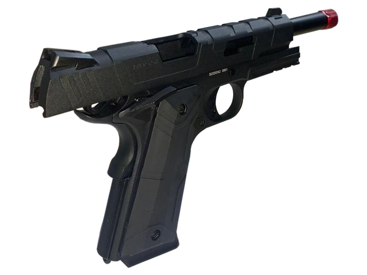 Pistola de Airsoft 1911 Gbb Slide Metal C/ Blowback Rossi 6mm + Green Gás loja Blowback + 4000 Bbs 0,20g loja Blowback