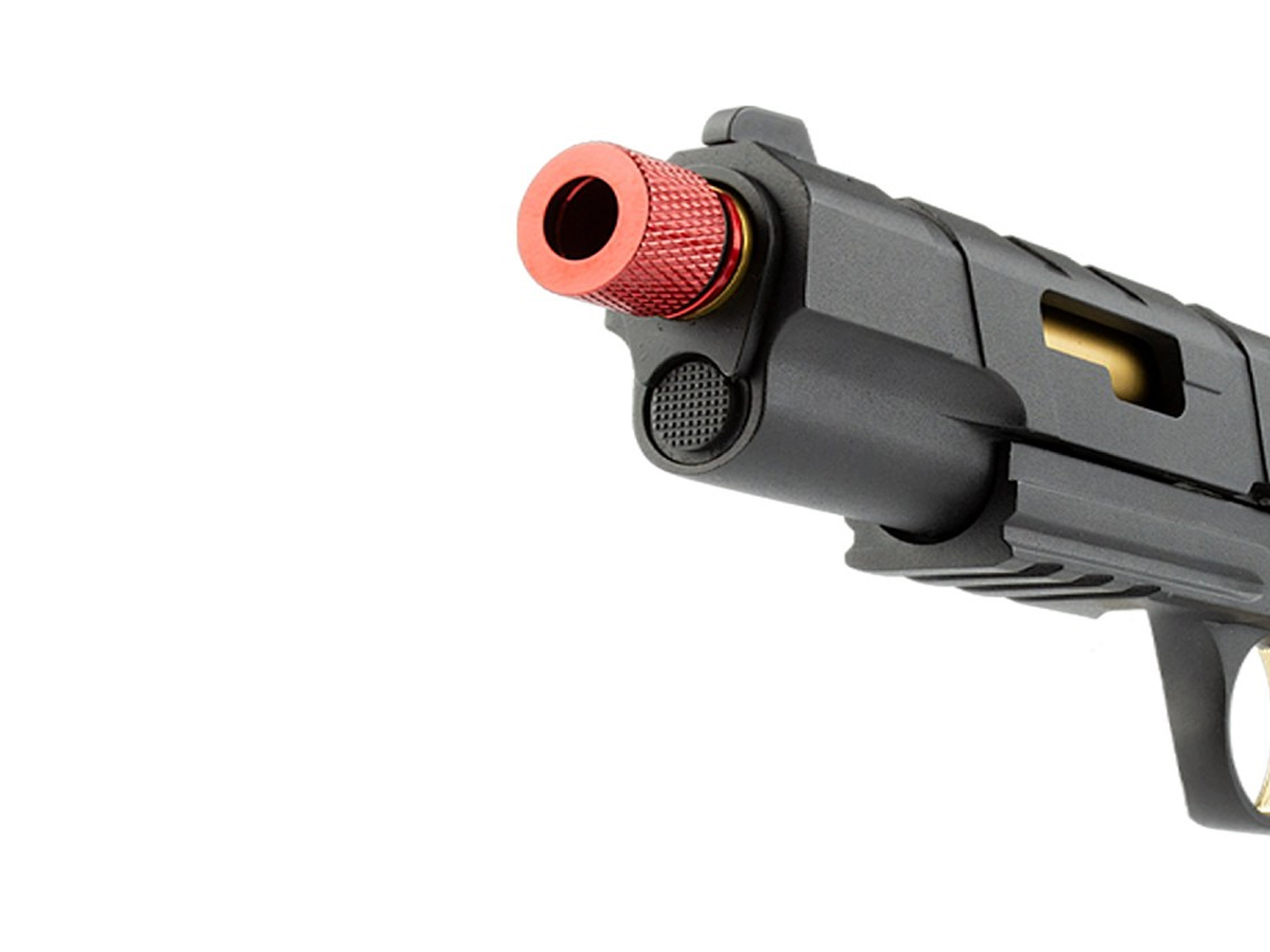 Pistola de Airsoft 1911 Slide Metal Gbb Gold C/ Blowback Rossi 6mm + Green Gás loja Blowback + 2000 Bbs 0,20g loja Blowback + Maleta