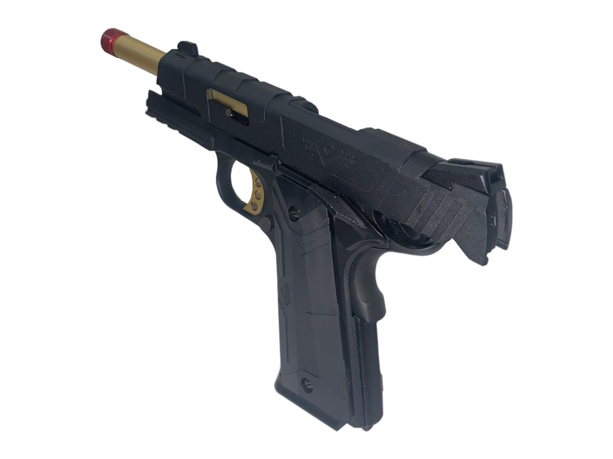 Pistola de Airsoft 1911 Slide Metal Gbb Gold C/ Blowback Rossi 6mm + Green Gás loja Blowback + 5000 Bbs 0,20g loja Blowback