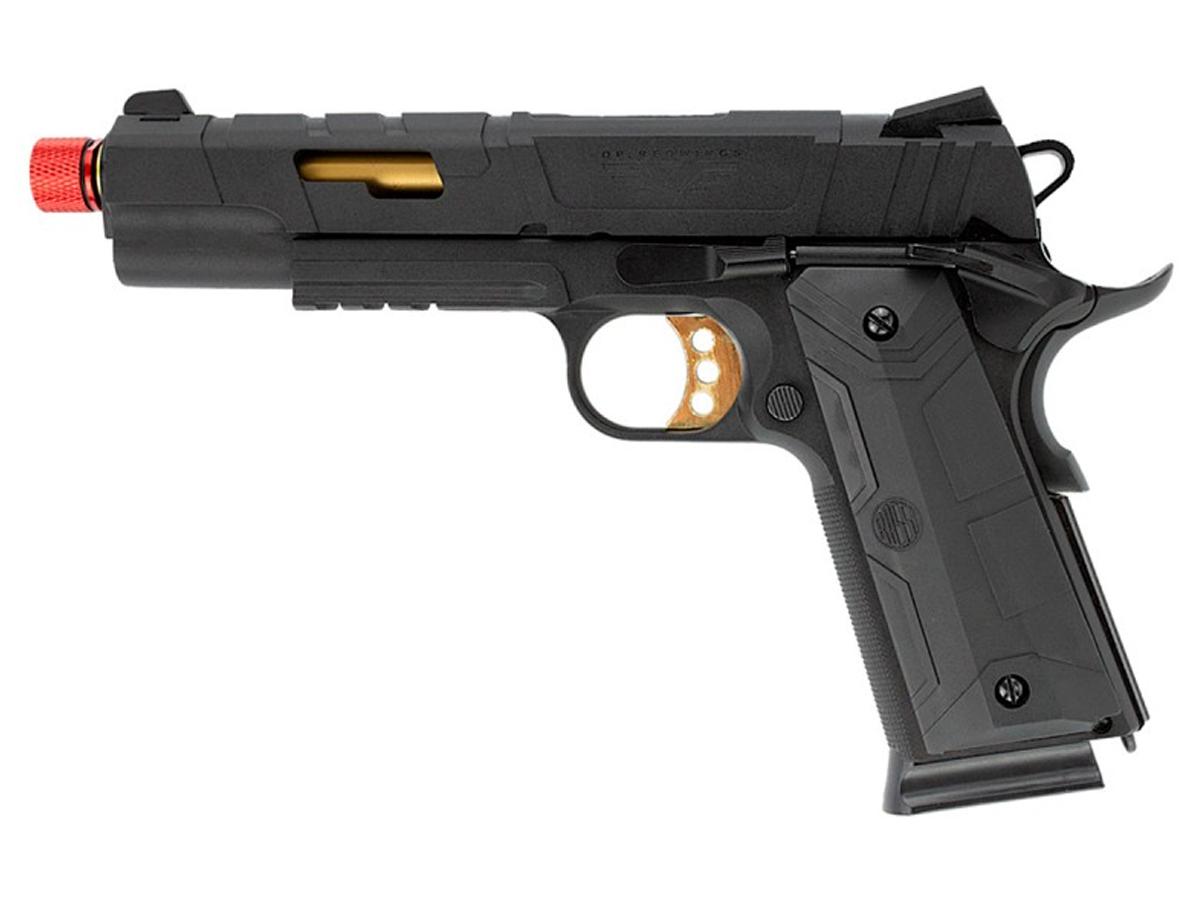 Pistola de Airsoft 1911 Slide Metal Gbb Gold C/ Blowback Rossi 6mm + Green Gás loja Blowback + 5000 Bbs 0,20g loja Blowback + Maleta