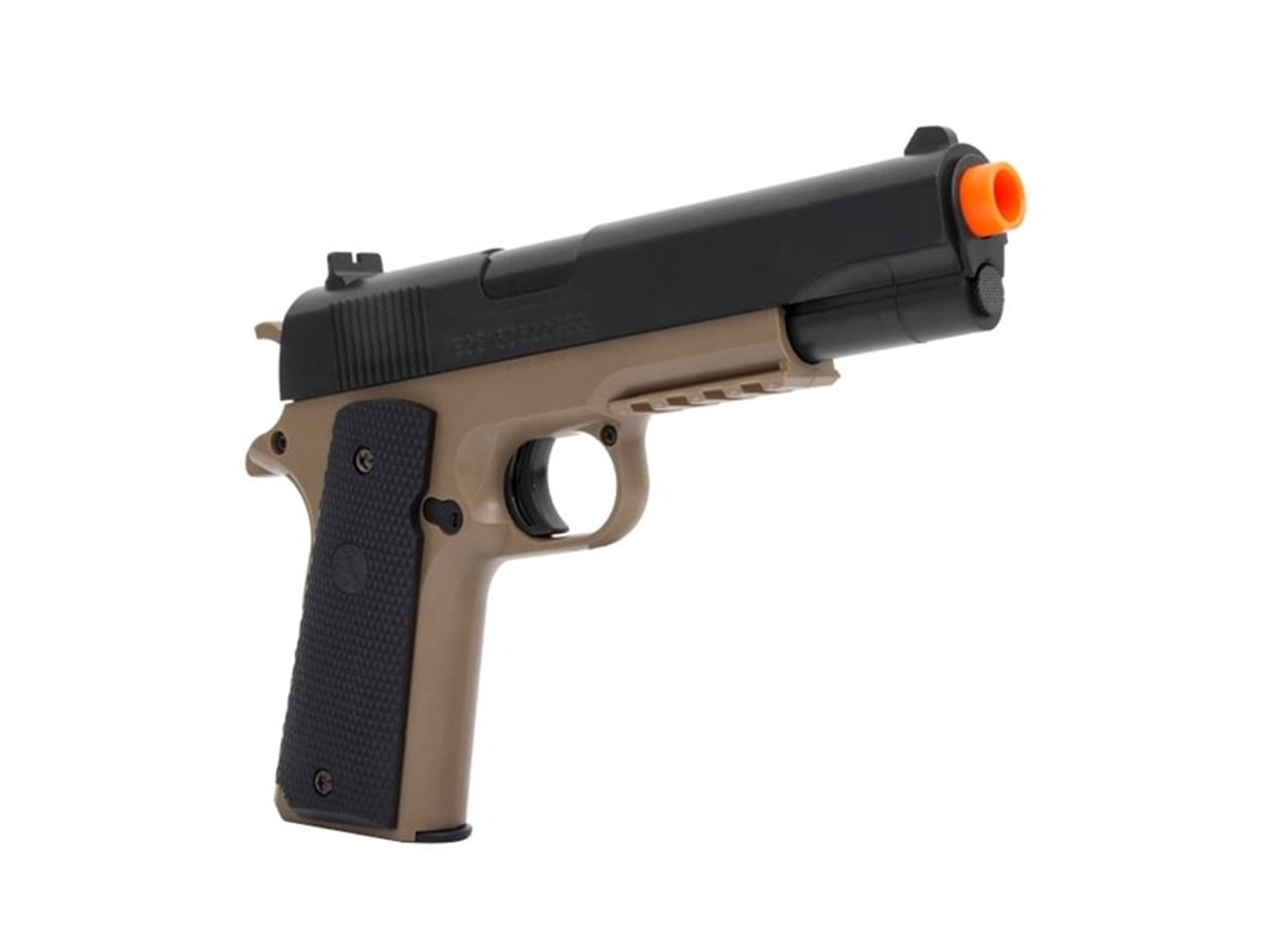 Pistola De Airsoft Colt 1911 A1 Tan & Bk Bb 6mm + 1000 Bbs