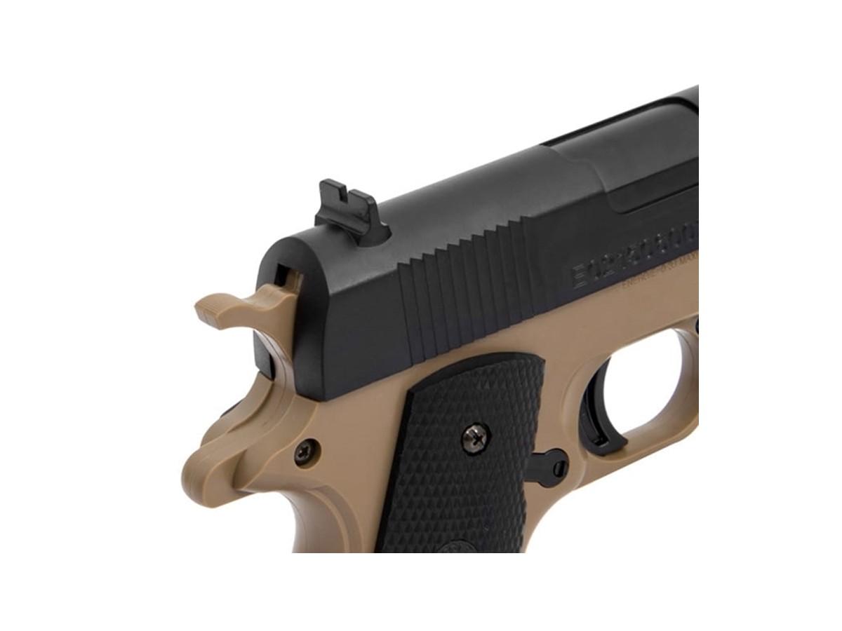 Pistola De Airsoft Colt 1911 A1 Tan & Bk Bb 6mm + 1000 Bbs + Coldre