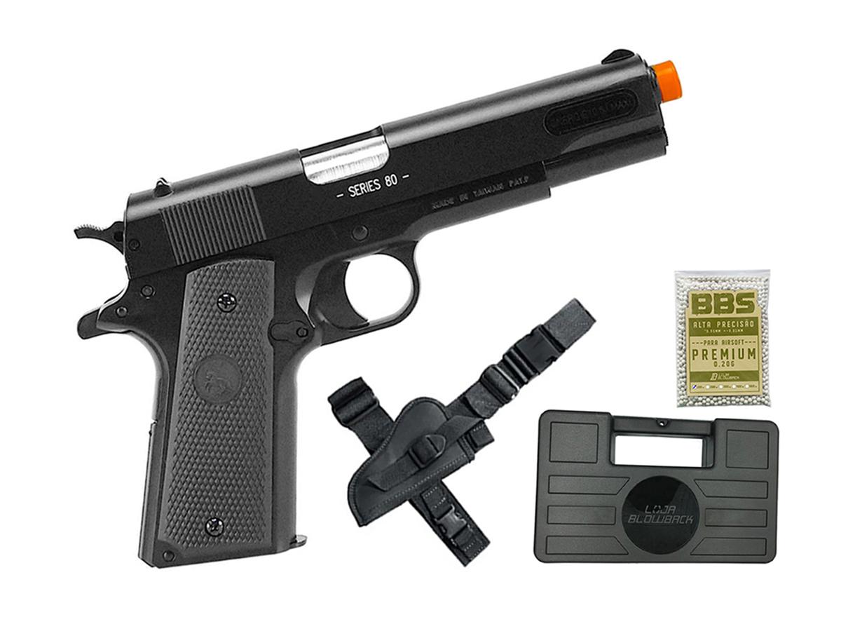 Pistola de Airsoft Colt 1911 Slide Metal 6mm Cybergun H12