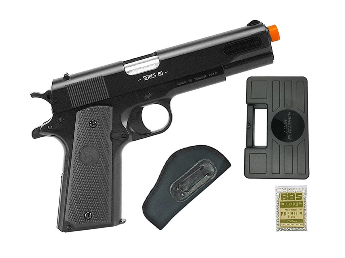 Pistola de Airsoft Colt 1911 Slide Metal 6mm Cybergun H15