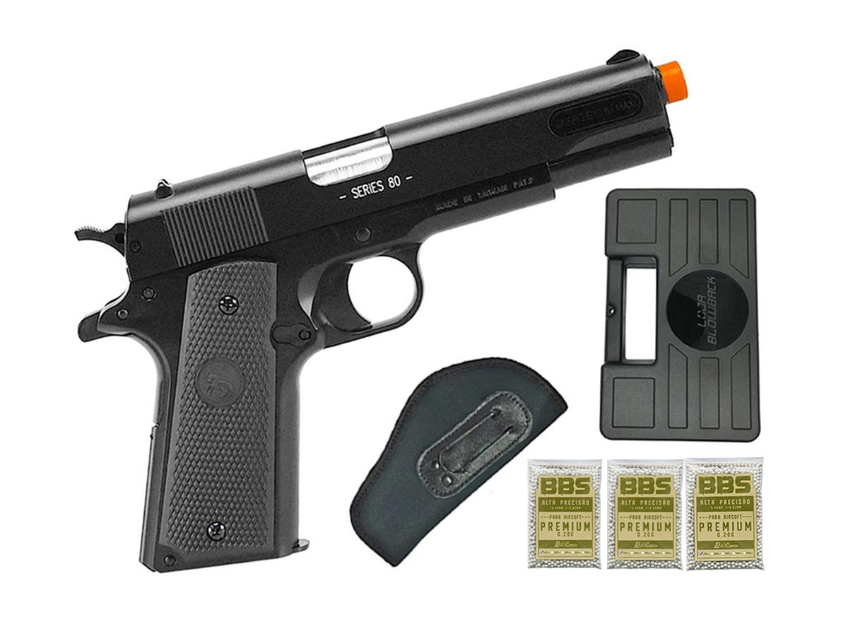 Pistola de Airsoft Colt 1911 Slide Metal 6mm Cybergun H16