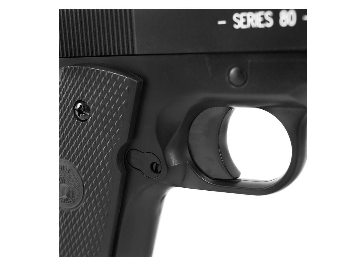 Pistola de Airsoft Colt 1911 Slide Metal 6mm Cybergun H8