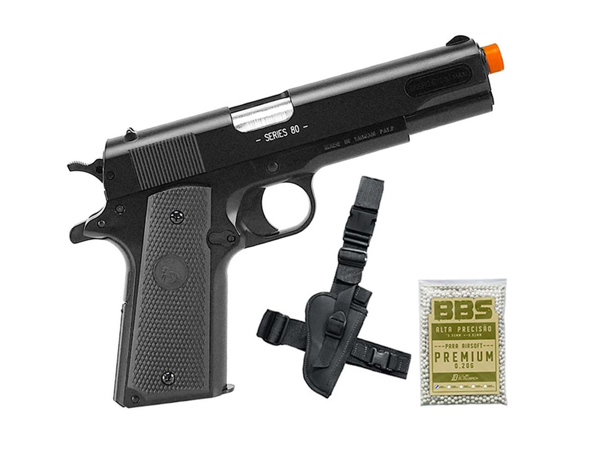 Pistola de Airsoft Colt 1911 Slide Metal 6mm Cybergun H9