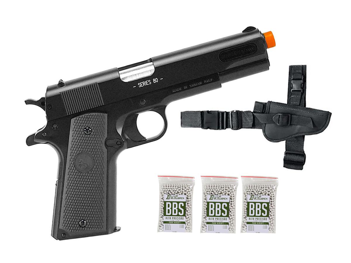 Pistola de Airsoft Colt 1911 Slide Metal 6mm Cybergun K10