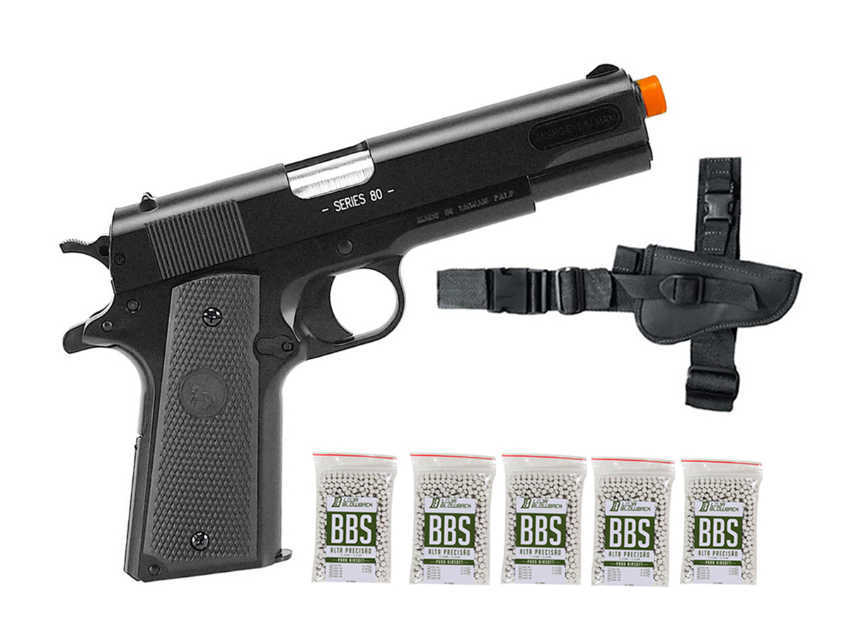 Pistola de Airsoft Colt 1911 Slide Metal 6mm Cybergun K11