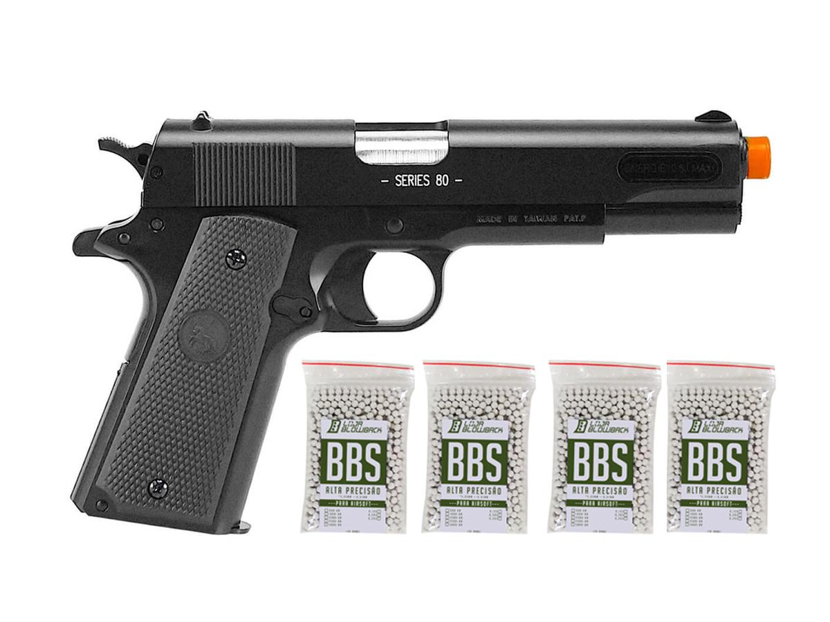 Pistola de Airsoft Colt 1911 Slide Metal 6mm Cybergun K4