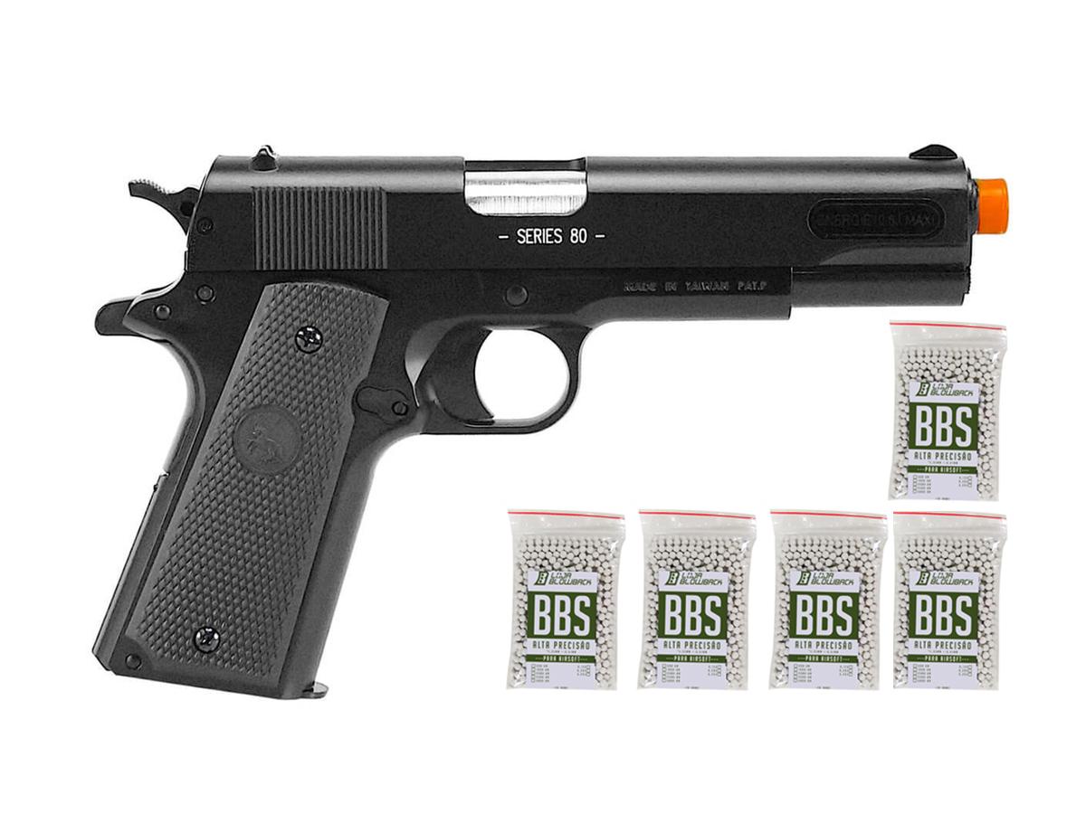 Pistola de Airsoft Colt 1911 Slide Metal 6mm Cybergun K5