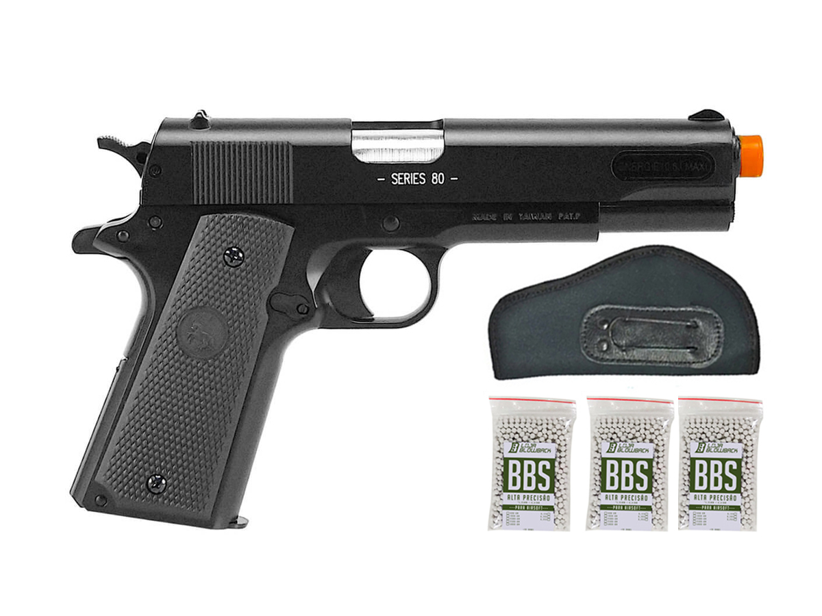 Pistola de Airsoft Colt 1911 Slide Metal 6mm Cybergun K7