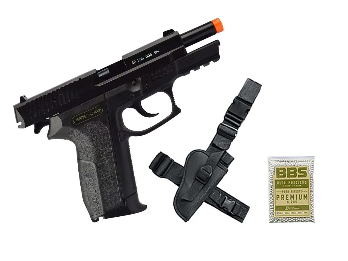 Pistola De Airsoft Sig Sauer Sp2022 Cybergun Spring 6mm H9