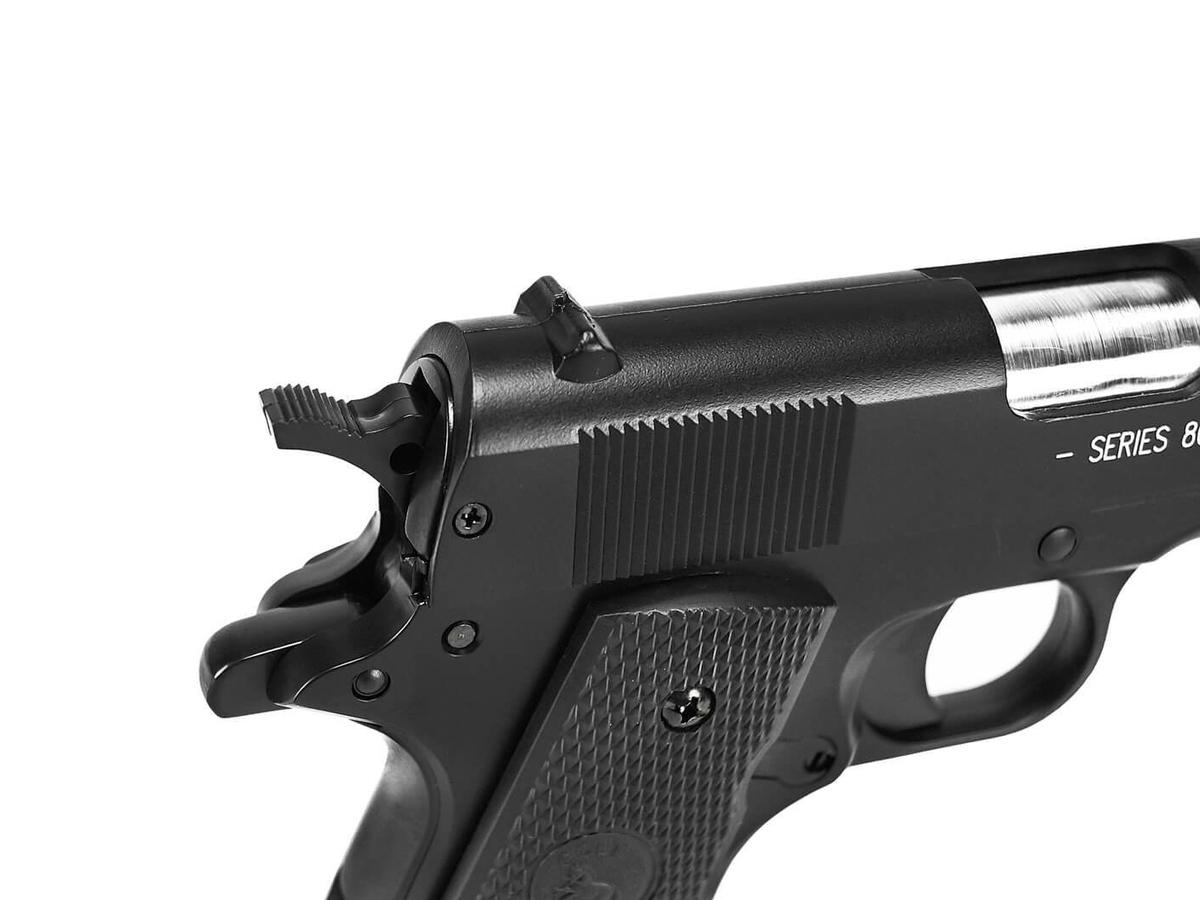 Pistola de Airsoft Spring Colt 1911 Slide Metal 6mm Cybergun