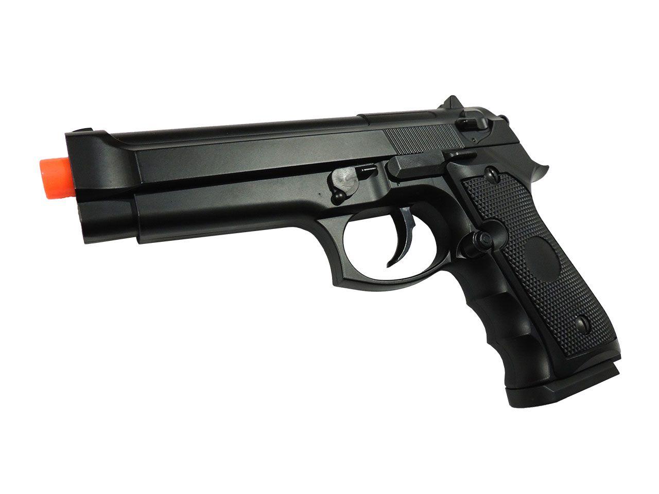 Pistola de Airsoft Spring Double Eagle Beretta 92 M296 Full Metal 6mm