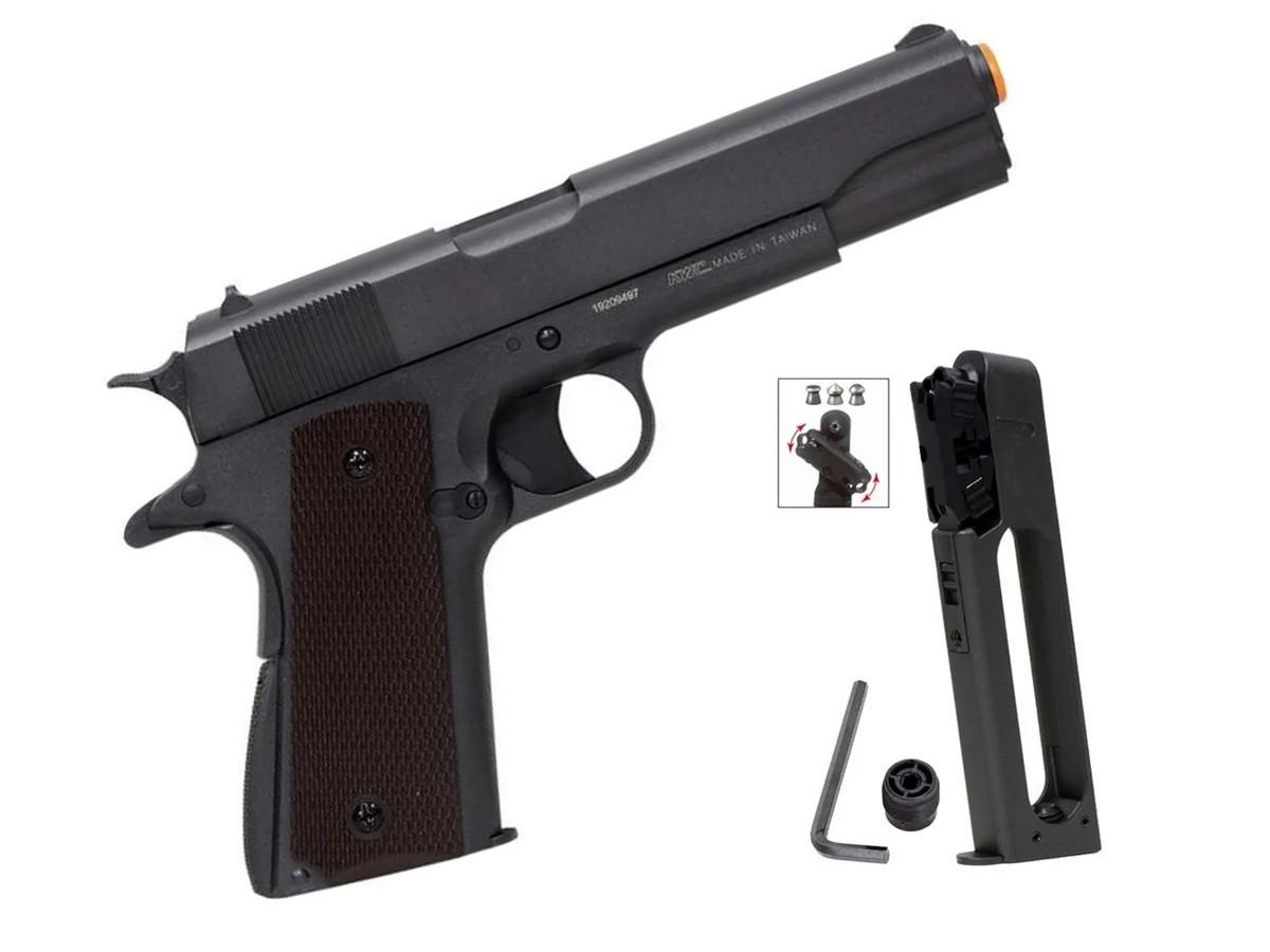 Pistola De Chumbinho Co2 1911 Airgun Pressão Tipo Carabina