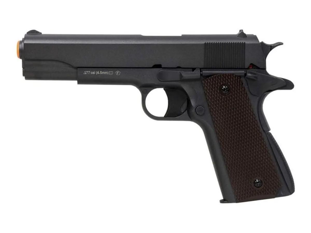 Pistola De Chumbinho Co2 1911 Airgun Pressão Tipo Carabina + Kit 4