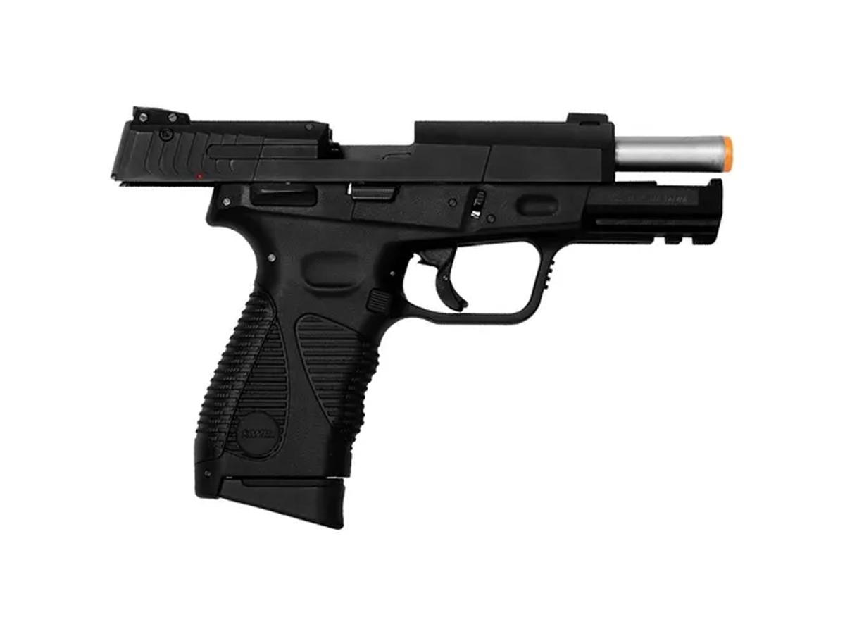 Pistola de Pressão 24/7 KWC Slide Metal Co2 Blowback 4.5mm + 5 Co2 + 500 esferas + Coldre robocop + Maleta