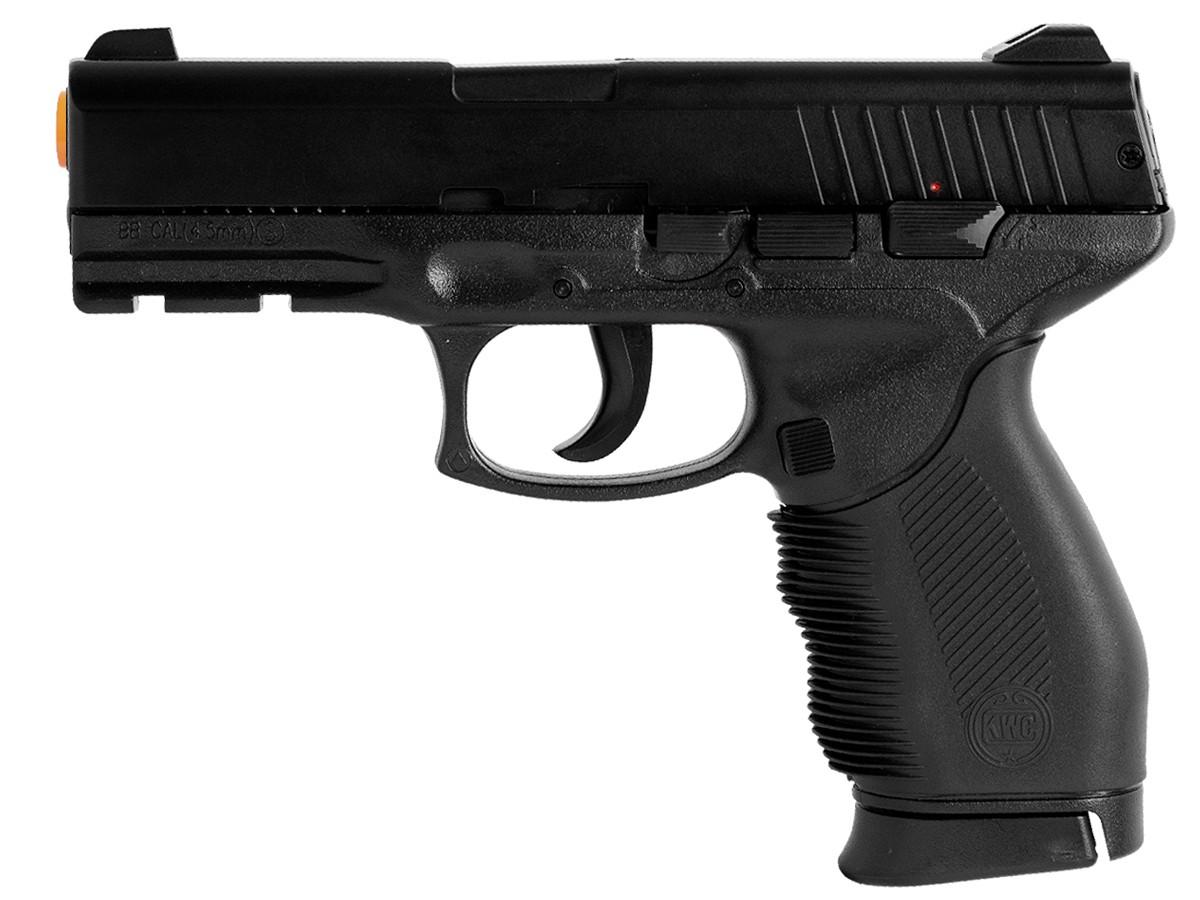Pistola de pressão 24/7 slide metal airgun 4.5mm spring + maleta/case + 1500 esferas de aço