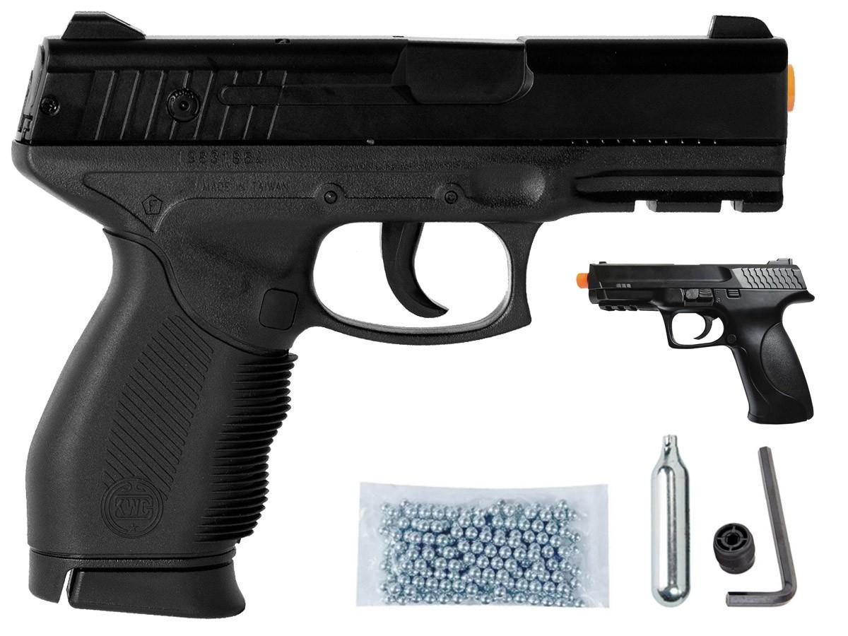 Pistola De Pressão Airgun Pt 24/7 Co2 4,5mm Esferas Aço K1 + M293
