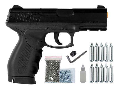 Pistola De Pressão Airgun Pt 24/7 Co2 4,5mm Esferas Aço K3
