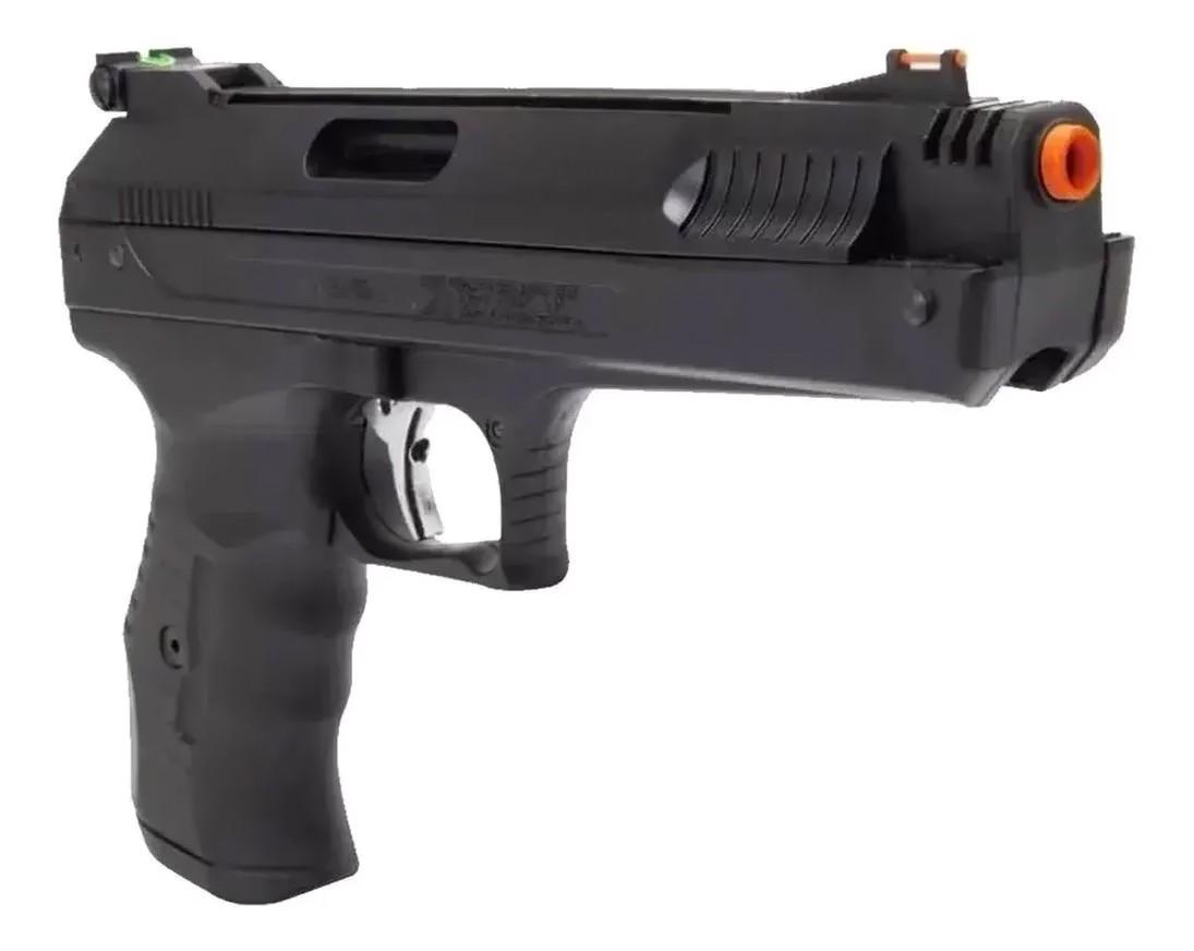 Pistola De Pressão Beeman 2004 5.5mm Airgun + 5 pack de chumbinho + Porta chumbinho