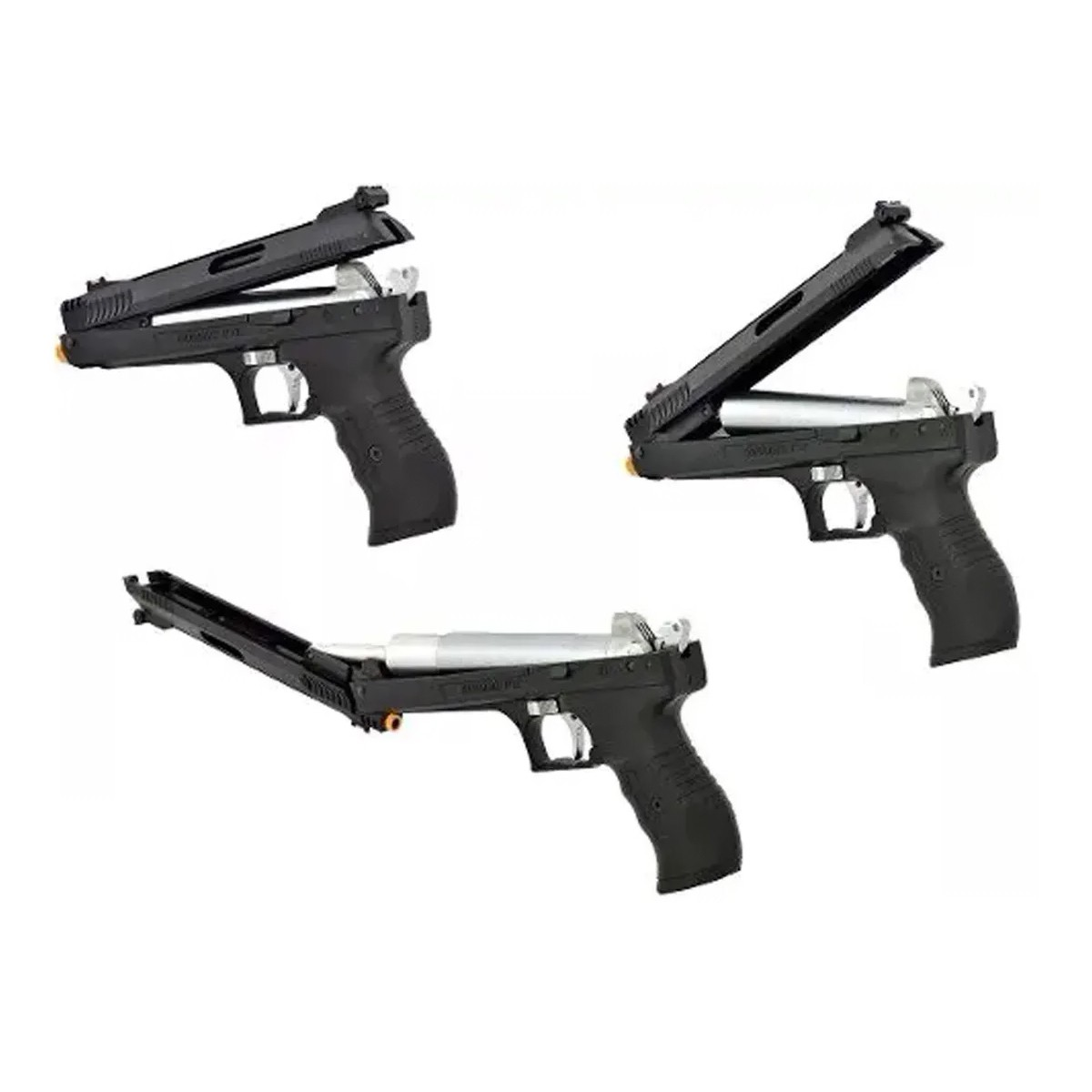 Pistola de Pressão Chumbinho Beeman 2004 Airgun 4.5mm + 3 Pack de chumbinho 4.5mm + Porta chumbinho