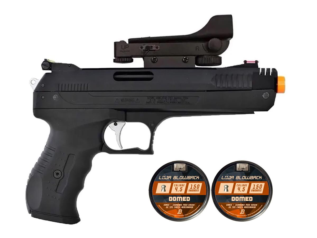 Pistola De Pressao Chumbinho Beeman 2006 4,5mm C/ Red Dot K3