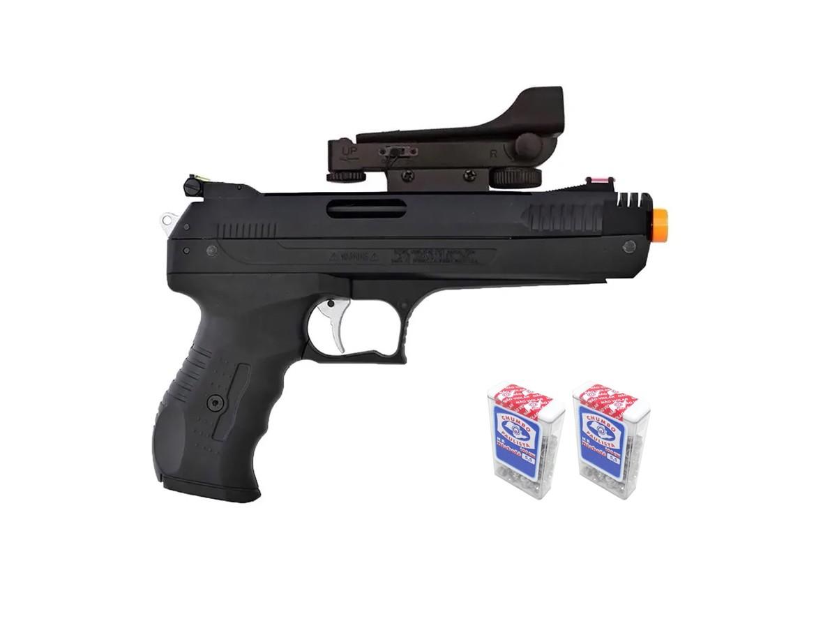 Pistola De Pressão Chumbinho Beeman 2006 5,5mm K2 C/ Red Dot