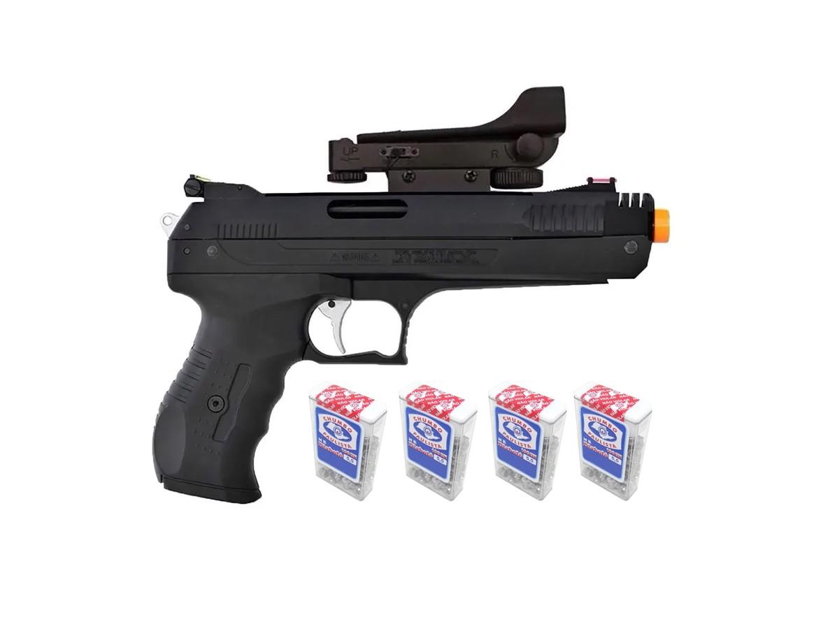 Pistola De Pressão Chumbinho Beeman 2006 5,5mm K4 C/ Red Dot