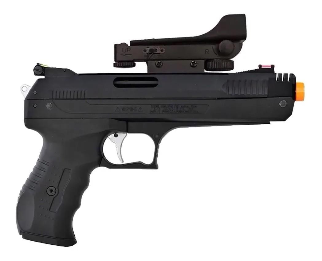 Pistola De Pressão Chumbinho Beeman 2006 5,5mm K5 C/ Red Dot