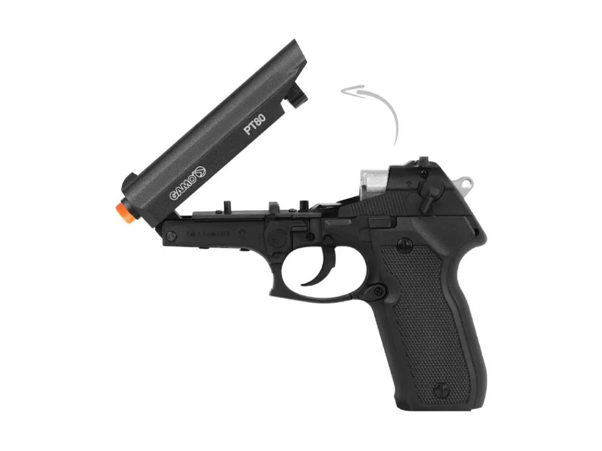 Pistola de Pressão Chumbinho Pt-80 Gamo Limitada Co2 4.5mm 8